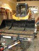 2006 MUSTANG 2054 SKID STEER AND NEW TRAILER